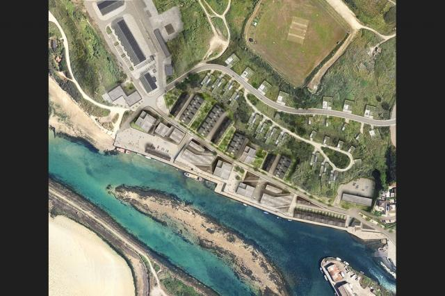 THIRD PHASE: Hayle north quay masterplan May 2018  Source:fcbstudios
